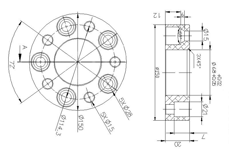 4 distanziali wheel spacers 20mm 5x114 3 hyundai santa fe
