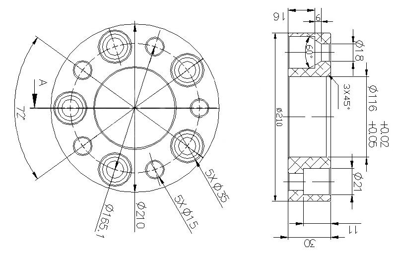 4 x Anello di Centraggio Distanziatore Cerchi in Lega 110 mm x 94 Fuoristrada